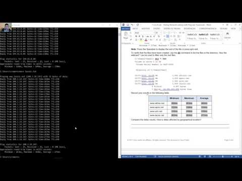 11.3.2.4 Lab - Testing Network Latency with Ping and Traceroute
