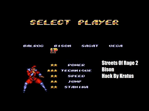 Streets of Rage 2 Bison Hack Playthrough