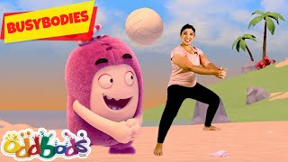 Fun Day At The Beach | Oddbods Busybodies | Exercise for kids