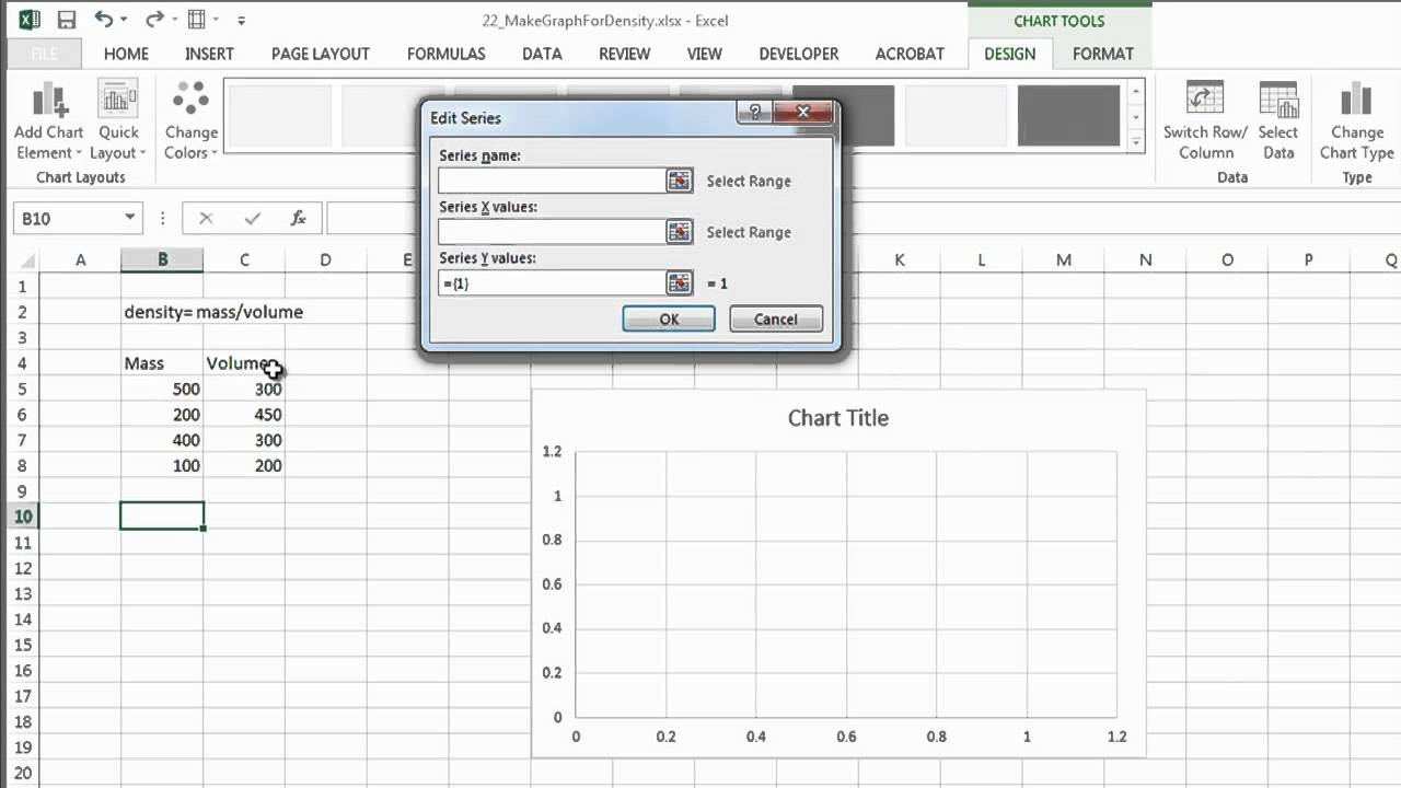 How to Make a Graph for Density in Excel With Microsoft