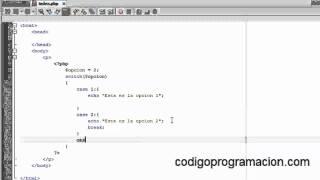 Tutorial PHP 7: sentencias switch y case