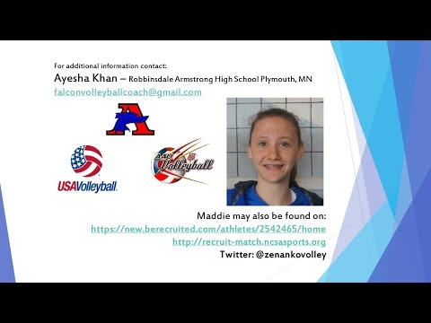 MADDIE ZENANKO #4 Setter - Armstrong HS - Plymouth, MN