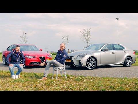 ANWB Dubbeltest Alfa Romeo Giulia vs. Lexus IS300h 2017