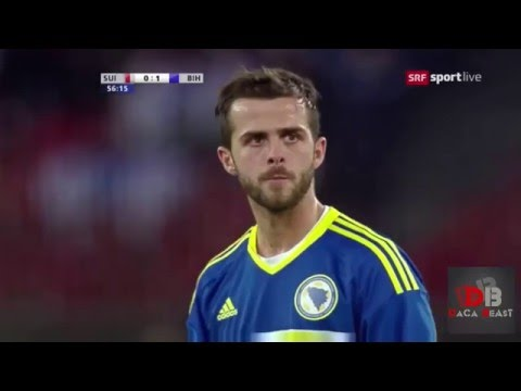 Miralem Pjanic Goal   Bosnia and Herzegovina vs Switzerland   2 - 0
