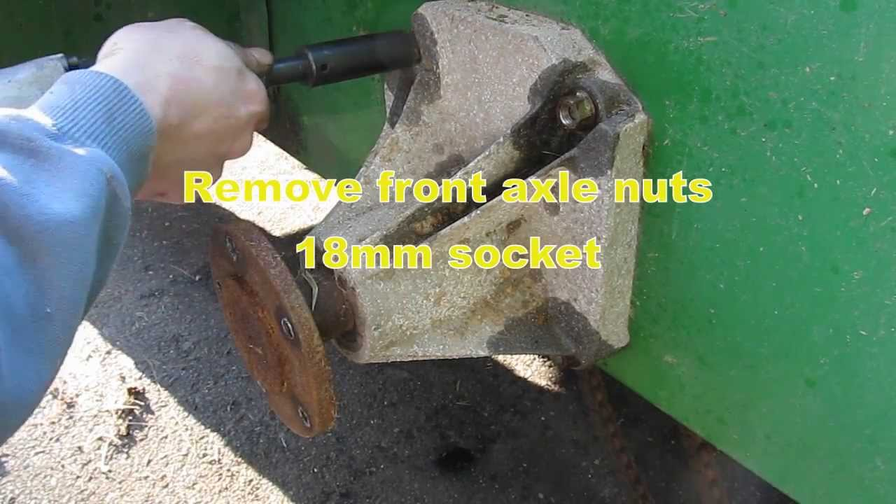 Deere Gator 6x4 Drive Chain Replacement Youtube