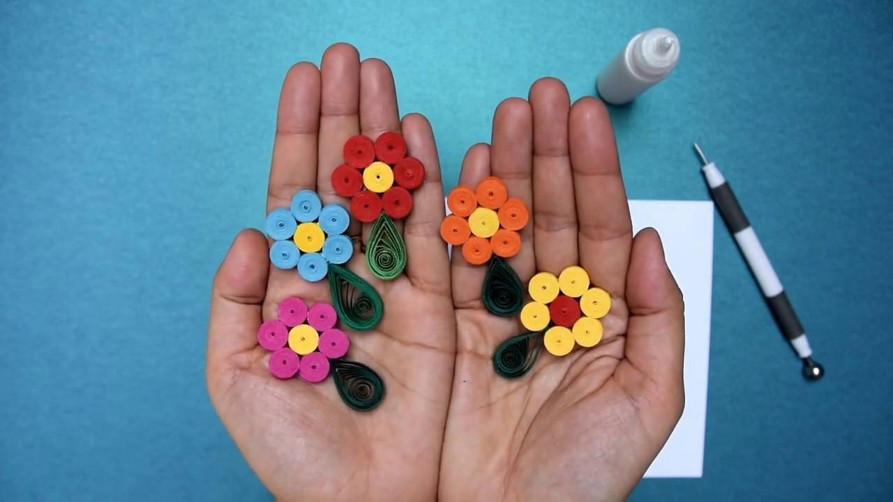 Tutorial Diy Floare De Primavara Din Hartie In Tehnica Quilling