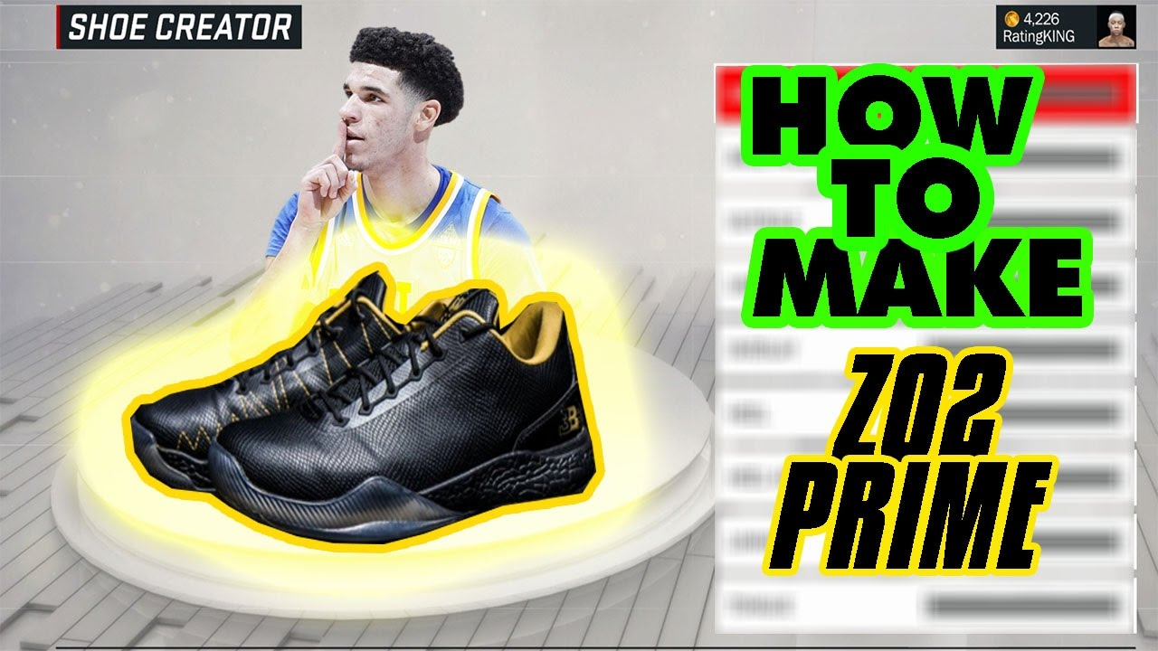 NBA 2K17- How to make Lonzo Ball's 495$ ZO2 PRIME SHOE! SEE HOW MUCH VC IT  COSTS!!!
