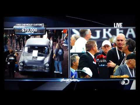 Original Two-Lane Blacktop '55 Chevy at Barrett-Jackson Scottsdale Auction 2015.