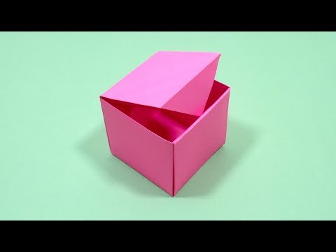 Easy Paper Box | How To Make Origami Box With Color Paper | DIY Paper Crafts