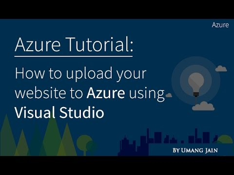 How to publish website on azure