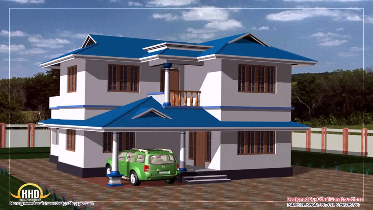 3 bedroom house plans indian style youtube for House designs indian style