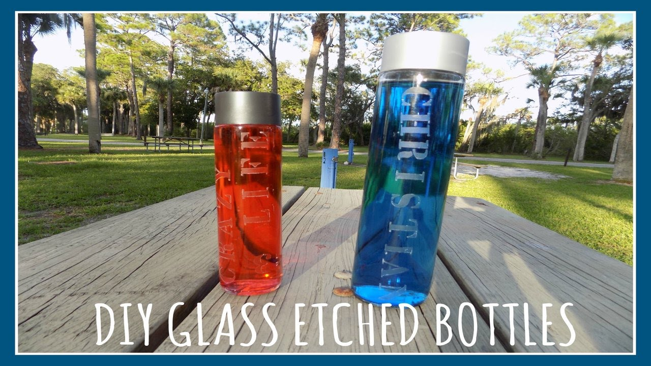 Do It Yourself Glass Etched Voss Bottles - Christian's Crazy Life