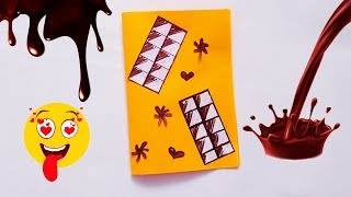 Chocolate day card | How to make Card for Chocolate Day Greeting Card🍫🍫🍫
