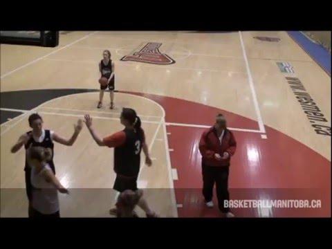 Tanya McKay - University of Winnipeg Women's Basketball Practice - 2011