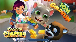 Talking Tom Gold Run 1st Version Ginger vs Subway Surfers AMSTERDAM