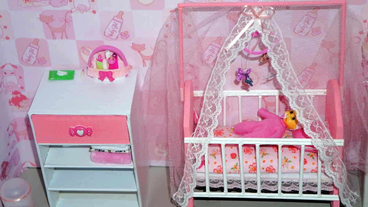 How To Make A Baby Crib Cot Part 2 For Doll Monster