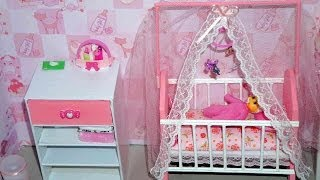 How To Make A Baby Crib / Cot (part 2) For Doll (monster High, Barbie, Etc)