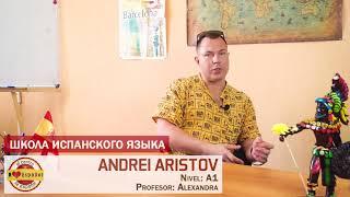 ANDRÉS aprende y habla español | Как АНДРЕЙ учит испанский язык (chico ruso habla español)