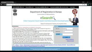 Downloading Registration Documents, Agreements & Index || from Maharashtra Government Website