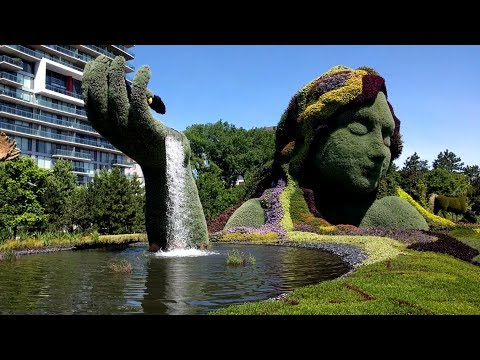 Tour of the MosaiCanada150 topiary sculptures in Jacques Cartier Park in Gatineau, Quebec (Ottawa)