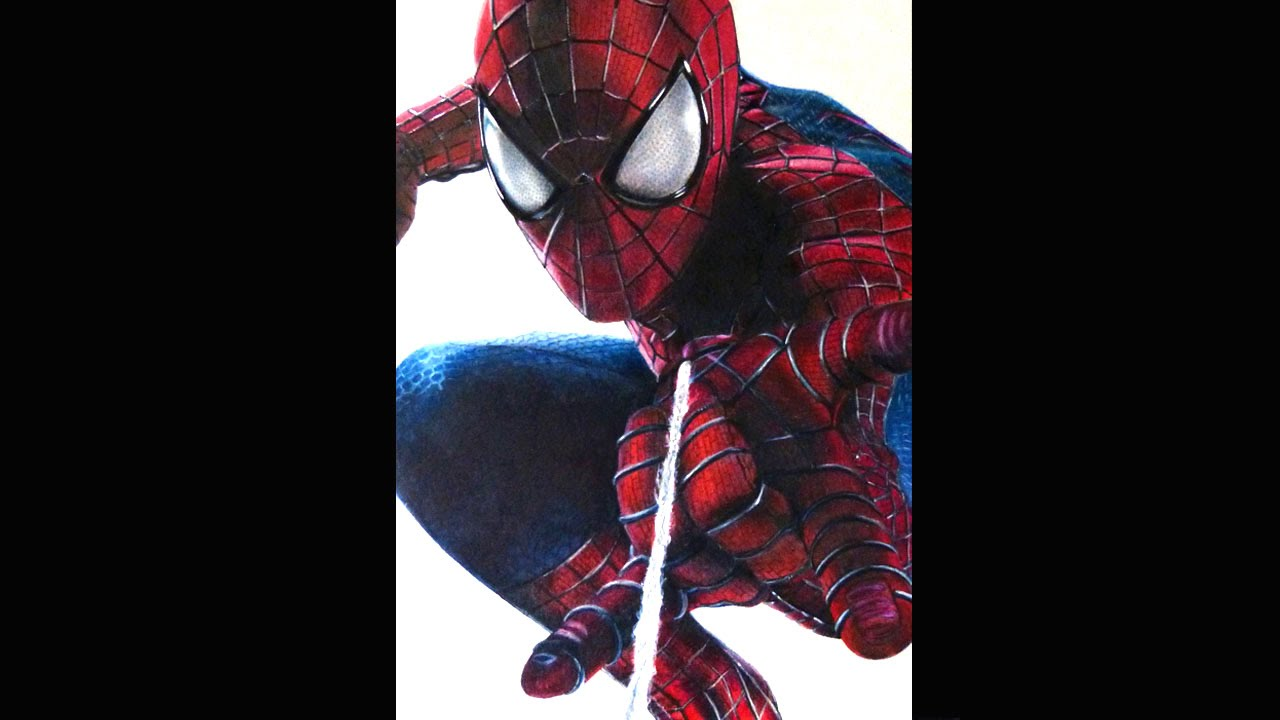 how i draw the amazing spider man 2 time lapse youtube