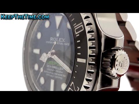 Close-Up Rolex D-Blue Dial Macro DeepSea Sea-Dweller | KeepTheTime.com