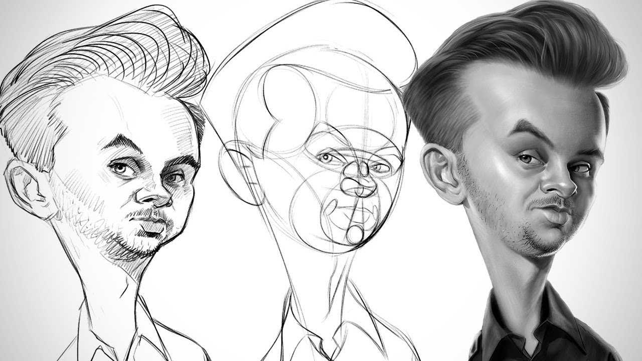 Process for Successful Drawings - Caricature Essentials - YouTube
