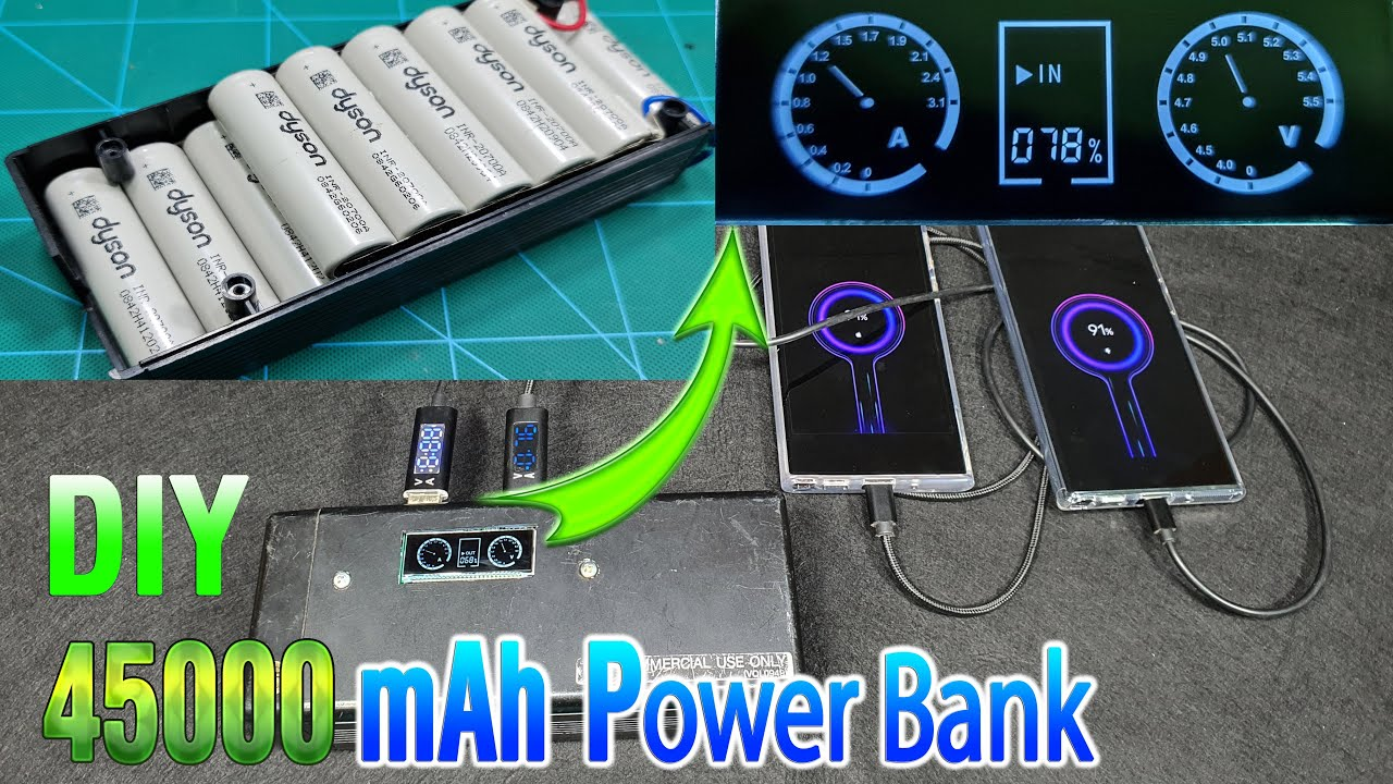 Build a 45000 mAh Power Bank with Scrap Box