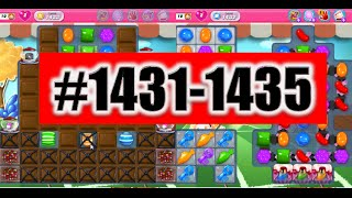 Candy Crush Saga Level 1431-1435 NEW! Complete!