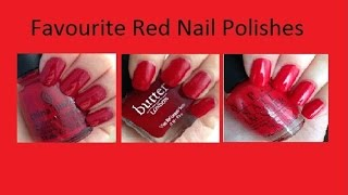 Favourite Red Nail Polishes