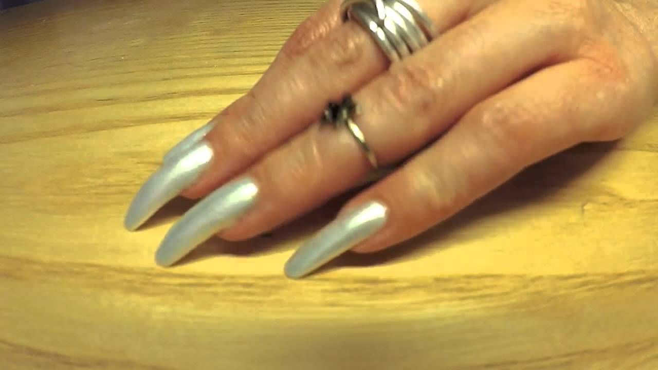 Naila Nails tapping her amazing long painted nails (video 12) - YouTube