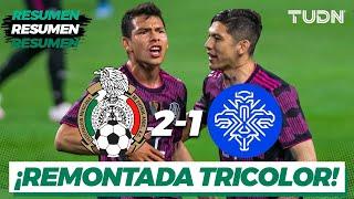 Resumen y goles   México 2-1 Islandia   Amistoso Internacional   TUDN
