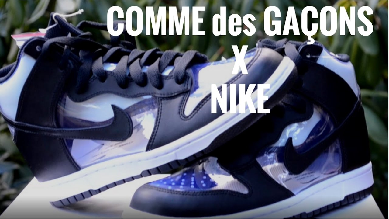 super popular 8cc39 a0439 COMME des GARCONS x NIKE DUNKS | REVIEW AND ON-FOOT