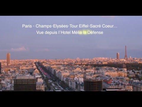 Panorama Paris Champs-Elysée Tour Eiffel Sacré Coeur. Qualité 4k