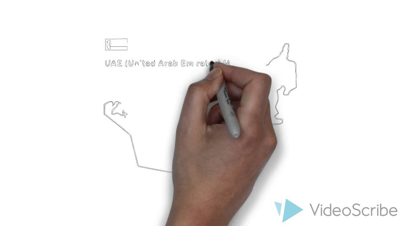 The Outline Map Of Uae Youtube