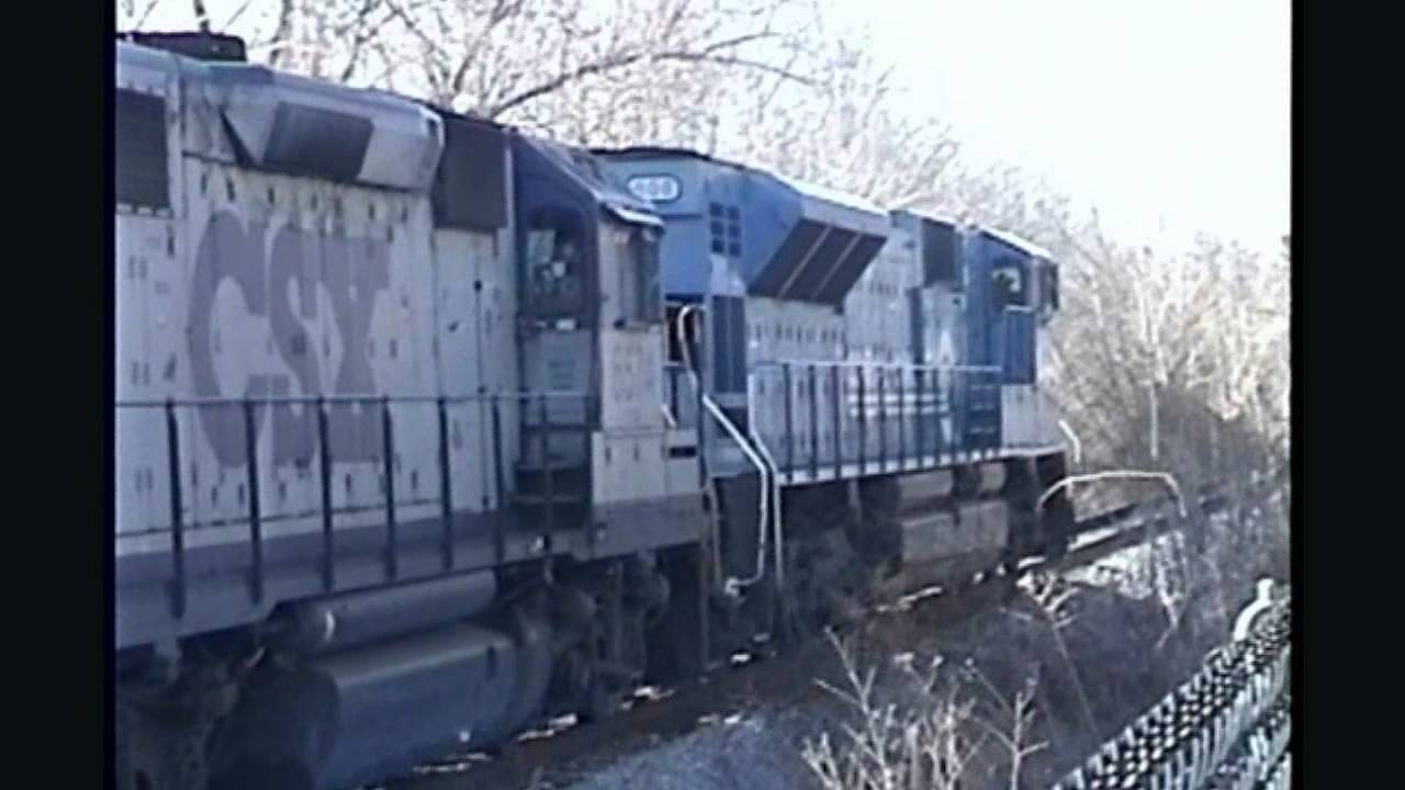 Conrail & CSX at Big Pool Junction (February 8 2000)