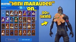 "NEW ""MINI MARAUDER"" BACK BLING Showcased With 80+ SKINS! Fortnite Battle Royale - MERRY MARAUDER!"
