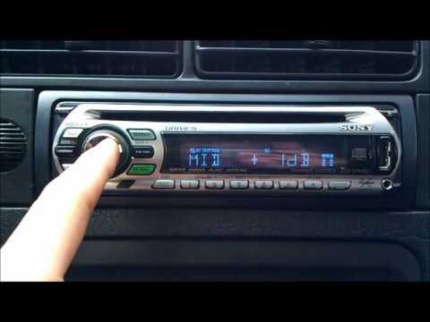 Autoradio Sony Usb Mp4 Aac 100db Cdx Gt41ou