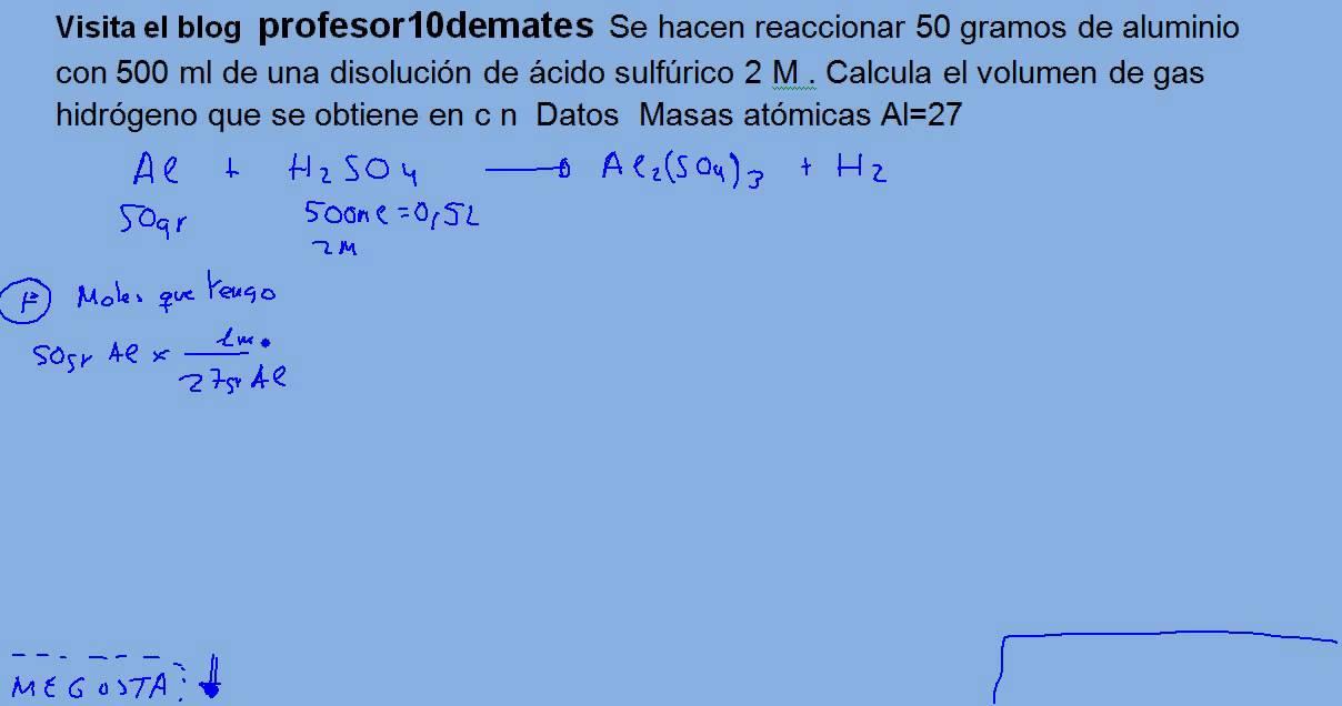 Reacciones químicas estequiometria reactivo limitante 04 - YouTube