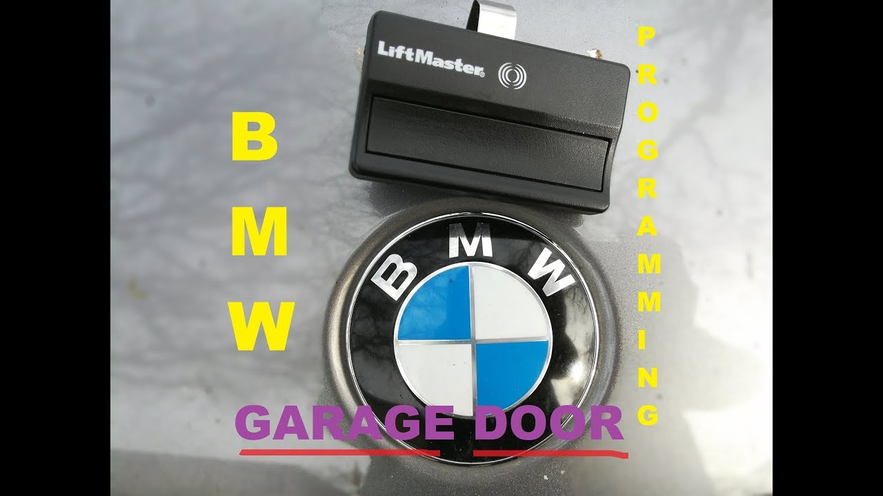 How To Program Bmw Homelink With Garage Door Opener W Proof