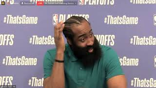 James Harden Postgame; Nets beat the Bucks in Game 5