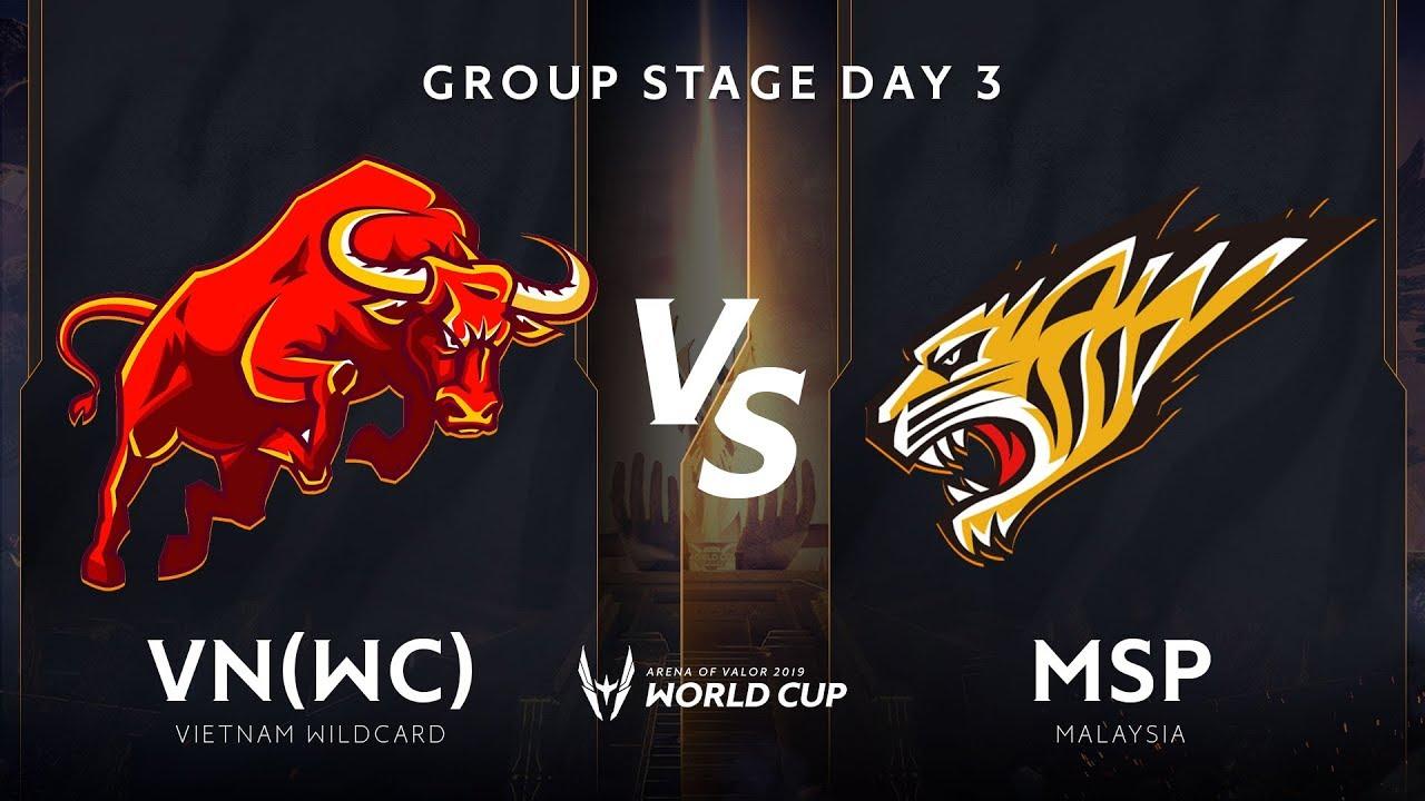 Việt Nam Wildcard vs Malaysia - Bảng A - Vòng bảng giải đấu AWC 2019 - Garena Liên Quân Mobile