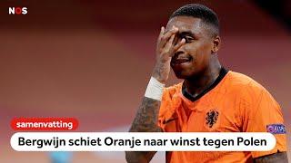 Oranje verslaat Polen dankzij eerste van Bergwijn🦁   samenvatting Nederland - Polen   Nations League