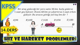 Hız Problemleri Soru Çözümü   KPSS Hız Problemleri  Hız Problemleri  KPSS Matematik  Matematik