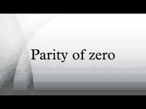 Parity of zero