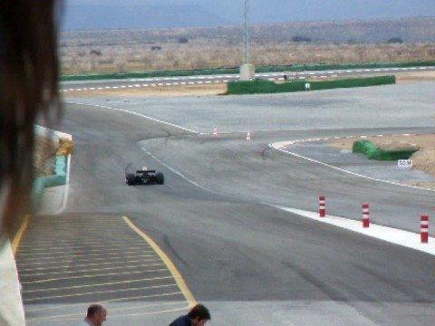 Circuito de Guadix. LOTUS 87B y MATRA 670B saliendo de boxes