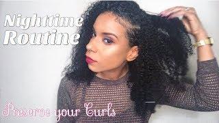 How I Preserve My Curls (Low Pony Method) NIGHTTIME ROUTINE