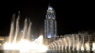 Dubai Fountain (Torch Skyscraper which got destroyed on New year's Eve 2016))