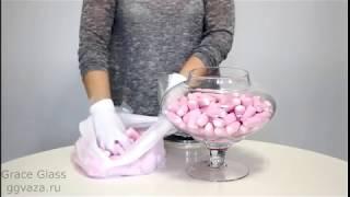 Конфетница с крышкой Ницца. Видео обзор. Grace Glass Кэнди Бар.(Видео обзор по конфетнице с крышкой для Кэнди Бар под наименованием Ницца с сайта http://www.ggvaza.ru., 2015-05-04T19:37:31.000Z)