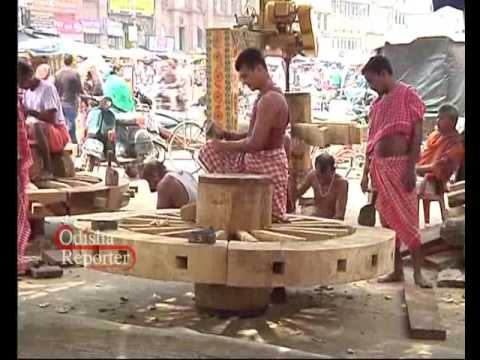 Chariots being constructed at Rath Khala in Puri
